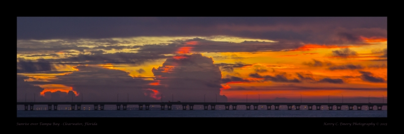 Sunrise across Tampa Bay
