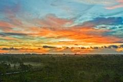 Drone Sunrise in Malabar, Florida