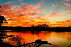 Sunset Catawba River, Catawba NC